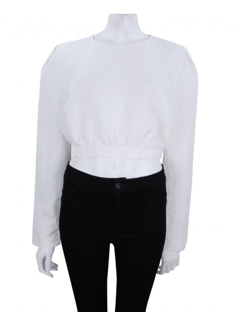 Blusa Adriana Degreas Cropped Off-White
