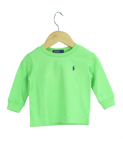 Blusa Polo Ralph Lauren Long Sleeve Verde - Toddler