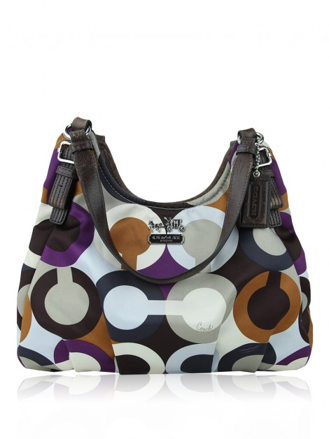 Bolsa Coach Maggie Madison Op-Art Colorida