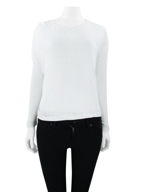 Blusa All Saints Spitalfields Vazada Off White