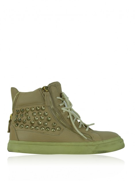 Tênis Giuseppe Zanotti London Spike High-Top Creme