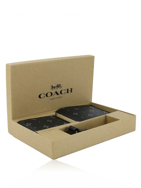 Kit Presente Coach 3 em 1 Estampa  Diamond Foulard