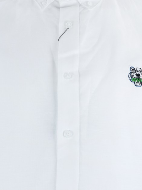 Camisa Kenzo Tiger Crest Casual Fit Branca