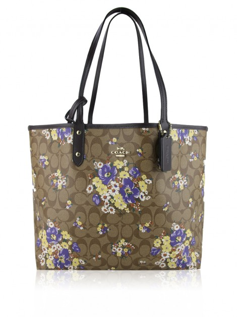 Bolsa Coach City Reversible Medley Bouquet  Marrom