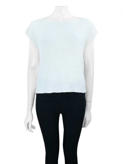 Blusa Achados do EU Tricot Off-White