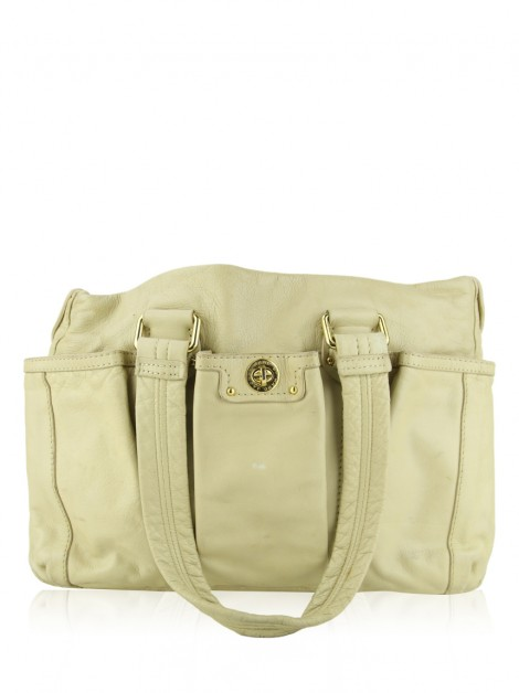 Bolsa Marc By Marc Jacobs Couro Bege