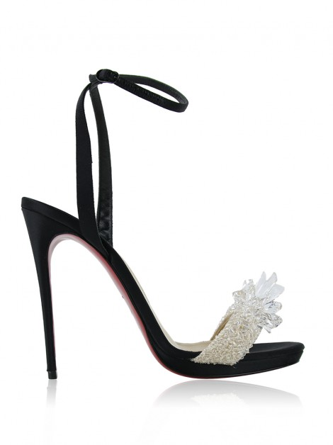 Sandália Christian Louboutin Crystal Queen 120mm