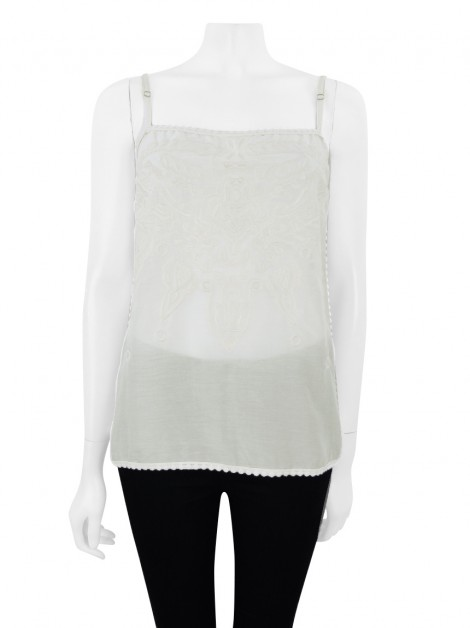 Blusa Animale Renda Bege