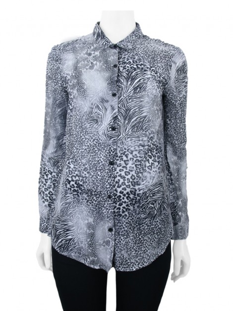 Camisa The Kooples Tecido Animal Print