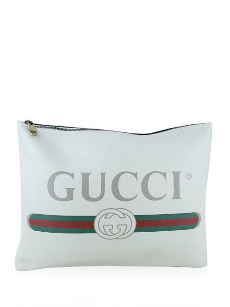 Clutch Gucci Logo Portfolio Off-White