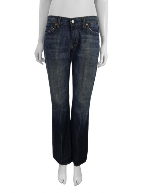 Calça Seven For All Mankind Flare Jeans Azul