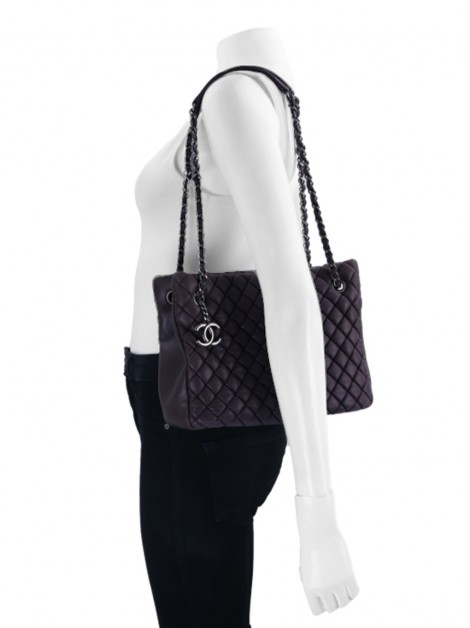 Bolsa Chanel Iridescent Small New Bubble Plum