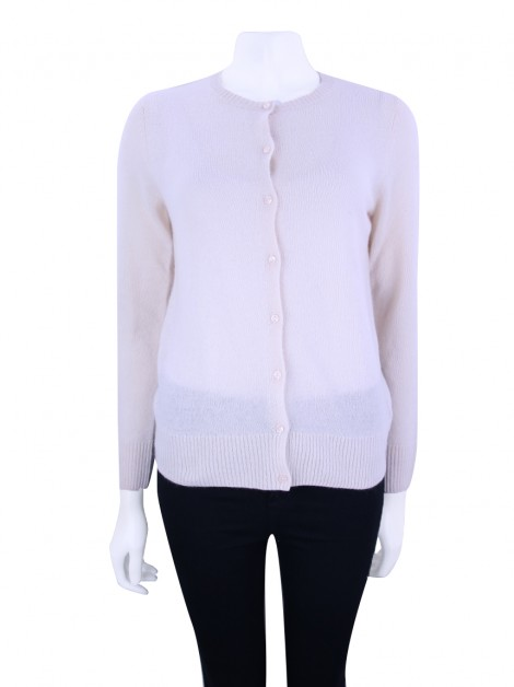 Cardigan Saks Fifth Avenue Cashmere Whisper Rosa