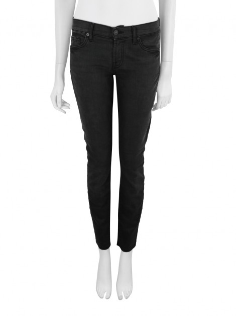 Calça Seven For All Mankind The Skinny Jeans Preto