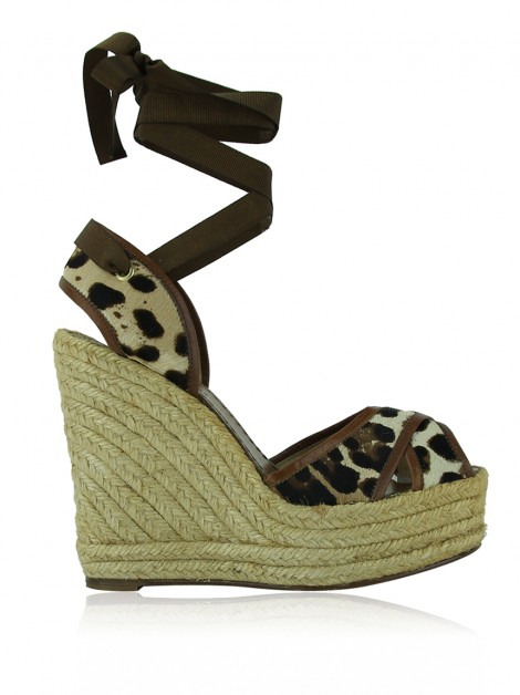 Sandália Dolce & Gabbana Criss Cross Animal Print