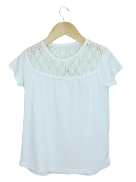 Blusa Mixed Kids Renda Off White