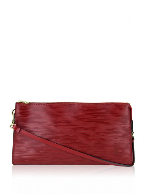 Bolsa Louis Vuitton Epi Pochette Accessories 24 Rouge