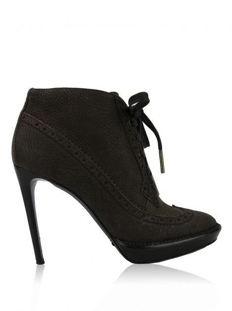 Ankle Boot Burberry Prorsum Couro Marrom