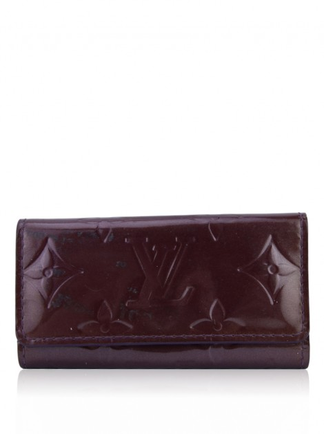 Porta Chaves Louis Vuitton Monogram Vernis Roxo