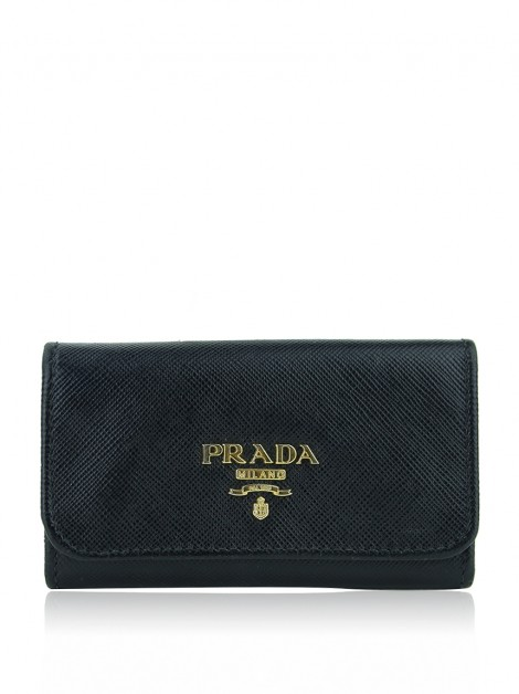 Porta-Chaves Prada Saffiano Metal 6 Key Holder