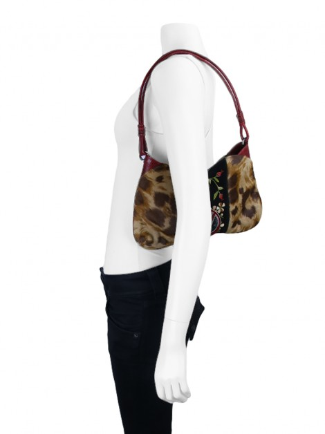 Bolsa Valentino Gavarani Catch Leopardo Bordado