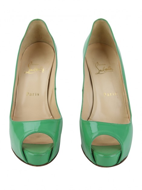 Sapato Christian Louboutin Very Prive Verde