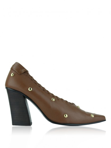 Sapato Reike Nen Rounded Stud Caramelo