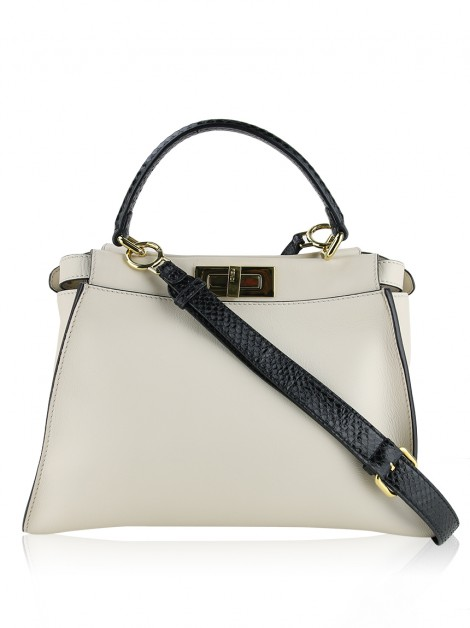 Bolsa Fendi Monster Peekaboo Creme