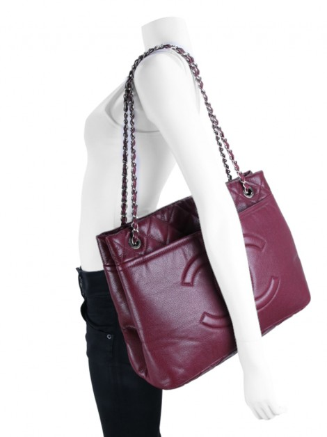 Bolsa Chanel Timeless CC Large Dark Red