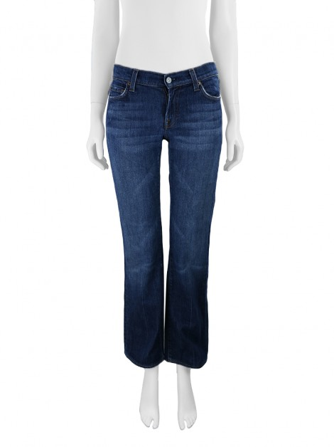 Calça Seven For All Mankind Reta Azul Estonado