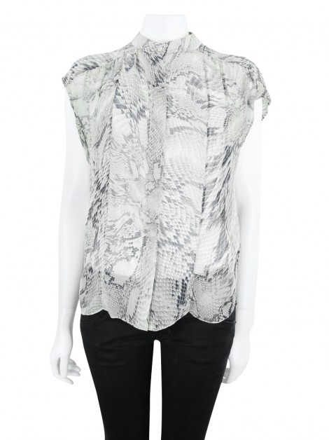 Blusa Mixed Transparente Estampada