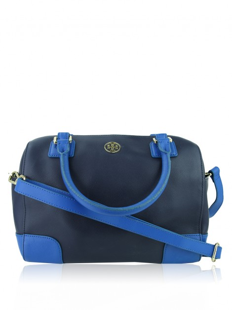 Bolsa Tory Burch Robinson Middy Satchel Bicolor