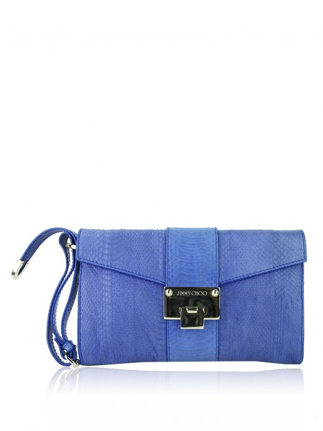Clutch Jimmy Choo Rivera Azul