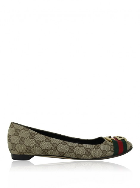 Sapatilha Gucci Web GG Canvas