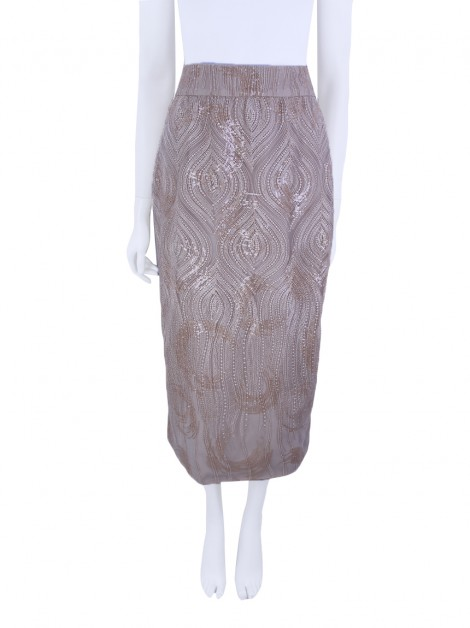 Saia Candy Brown Midi Nude