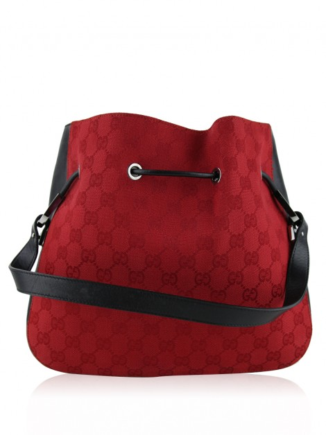 Bolsa Gucci Drawstring Vintage GG Canvas Bicolor