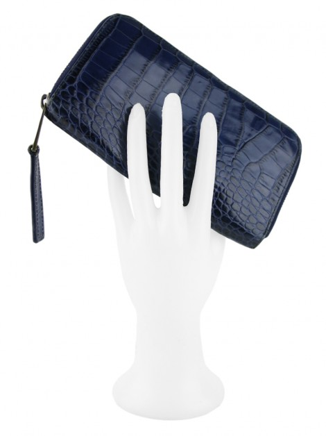 Carteira Marc Jacobs Embossed Azul
