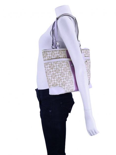 Bolsa Coach Canvas Off White