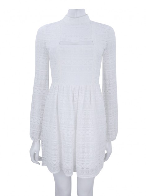 Vestido BCBG Generation Peek-A-Boo Off White