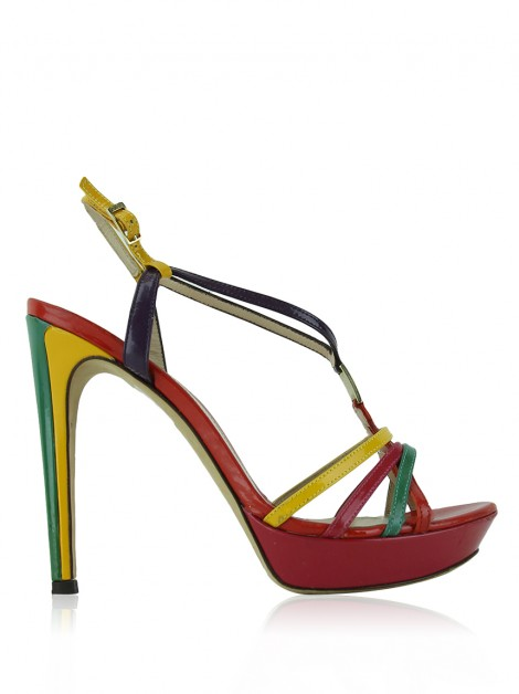 Sapato Fendi Strappy Colorida