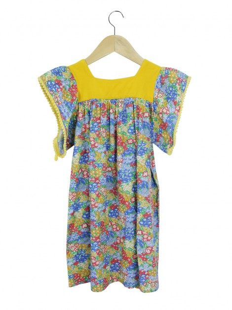 Vestido Mixed Kids Liberty Art Fabrics Floral