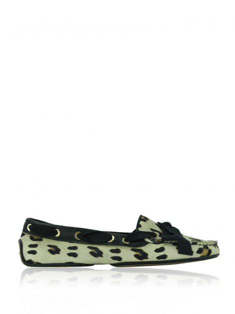 Sapato Giambattista Valli Loafer Canvas Animal Print