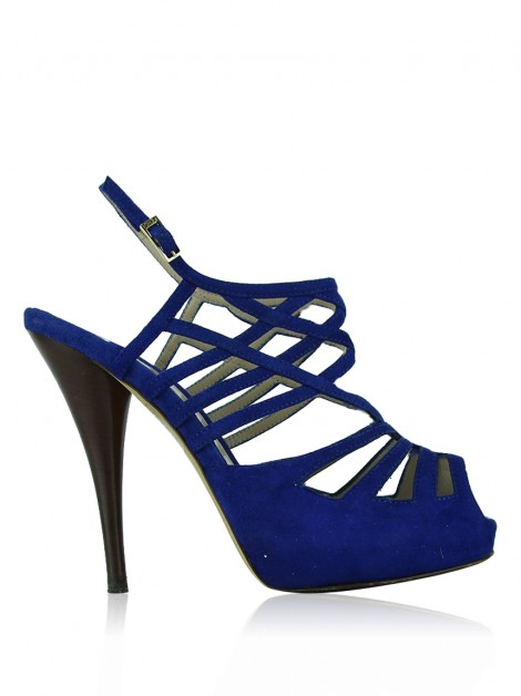Sandália Fendi Cut-Out Azul