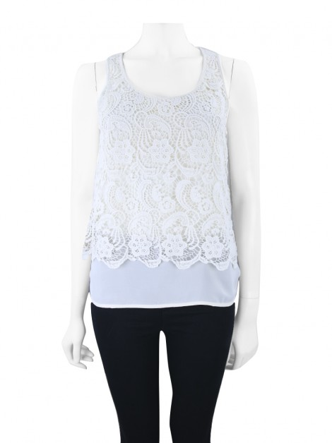 Blusa Club Monaco Renda Off White