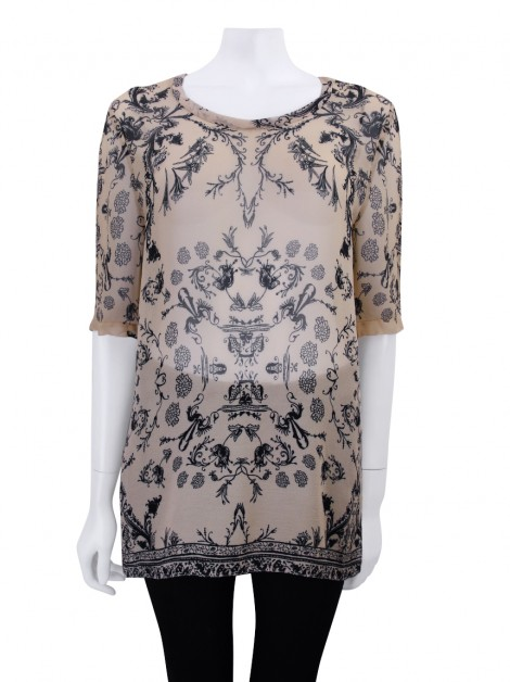 Blusa Animale Bege Estampada