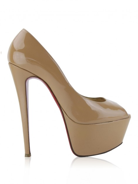 Sapato Christian Louboutin Highness Bege