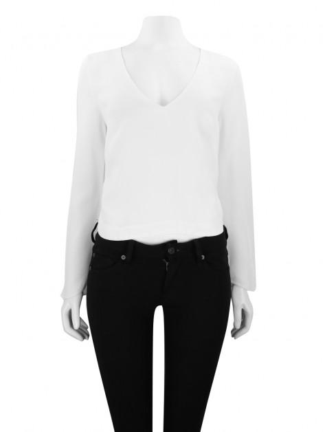 Blusa Animale Crepe Off White