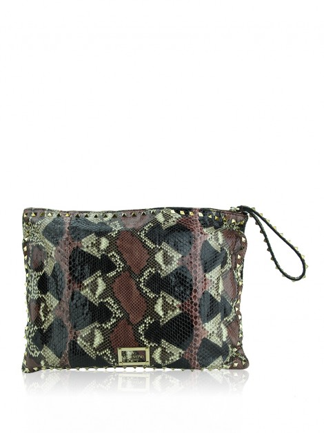 Clutch Valentino Python Spikes Colorida