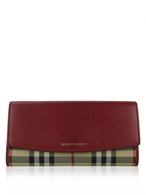 Carteira Burberry House Check Continental