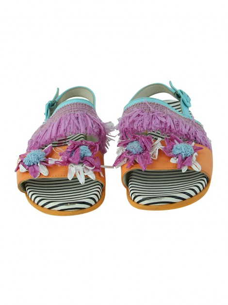 Rasteira Sophia Webster Mini Slingback Flowers Infantil